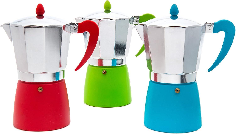 San Ignacio Cafetera 9T Soft Touch Splash Verde, Aluminio, Polipropileno, Gris: Amazon.es: Hogar