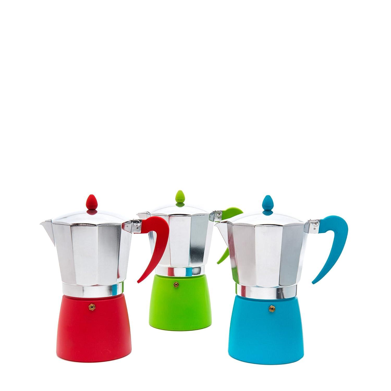 San Ignacio Splash Kaffeemaschine, 3Dienstleistungen, Aluminium, Grau, 23x 7x 13cm