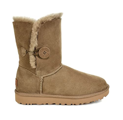 ugg womens bailey button ii antilope 12 b medium amazon co uk rh amazon co uk