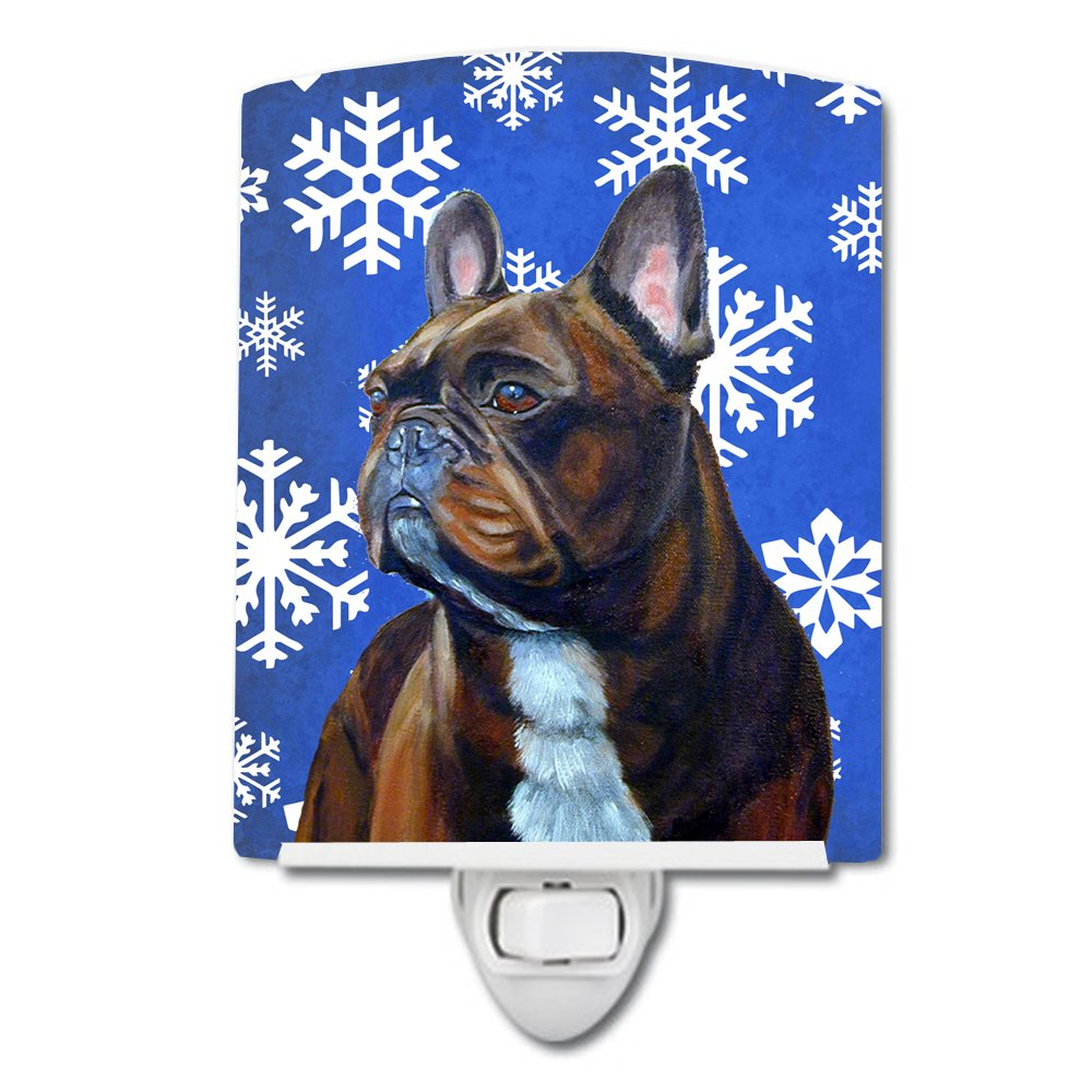 Carolines Treasures French Bulldog Snowflakes Holiday Night Light 6 x 4 Multicolor