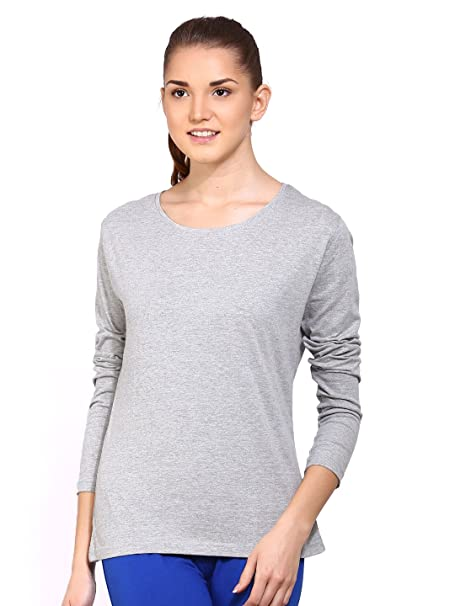 Ap'pulse Women's Long Sleeve Round Neck T Shirt Women's Tops at amazon