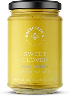 product image for BEEKEEPER'S NATURALS Sweet Clover Honey - Raw, 100% Pure, Natural, Wildcrafted, Nutrient Rich, Antioxidants, Sustainable - Filled with Natural Enzymes - Gluten Free and Paleo Friendly - (1.1lbs)