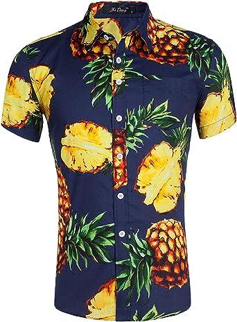 Camisa Hawaiana para Hombre con Estampado 3D Aloha Manga Corta Floral Camisetas M-XXL: Amazon.es: Ropa y accesorios