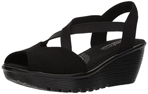 01b5045ae02c Skechers Women s Parallel-Piazza Black Leather Fashion Sandals-4 UK India  (37