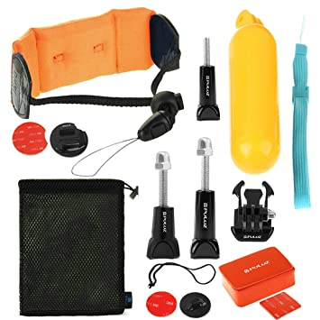 PULUZ 14 en 1 Surfing GoPro Accesorios Combo Kit (Bobber mano Grip + Floaty Esponja
