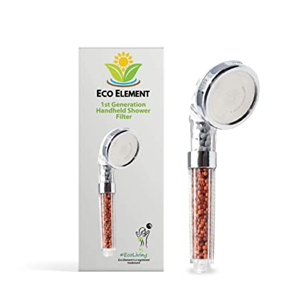 Eco Element 1st Generation Shower Filter Replacement Stones Only New Launch Removes All Harmful Bacteria Including Chlorine Heavy Metals and Hard Ions.