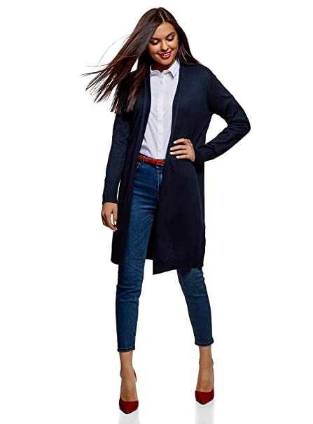 check out 3fac8 4b253 oodji Collection Donna Cardigan Lungo Senza Chiusura: Amazon ...