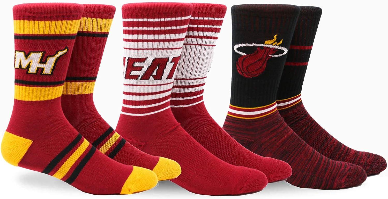 3pk PKWY NBA Team Crew Socks
