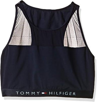 Tommy Hilfiger Sujetador Deportivo de Estilo Bralette de Algodón y ...