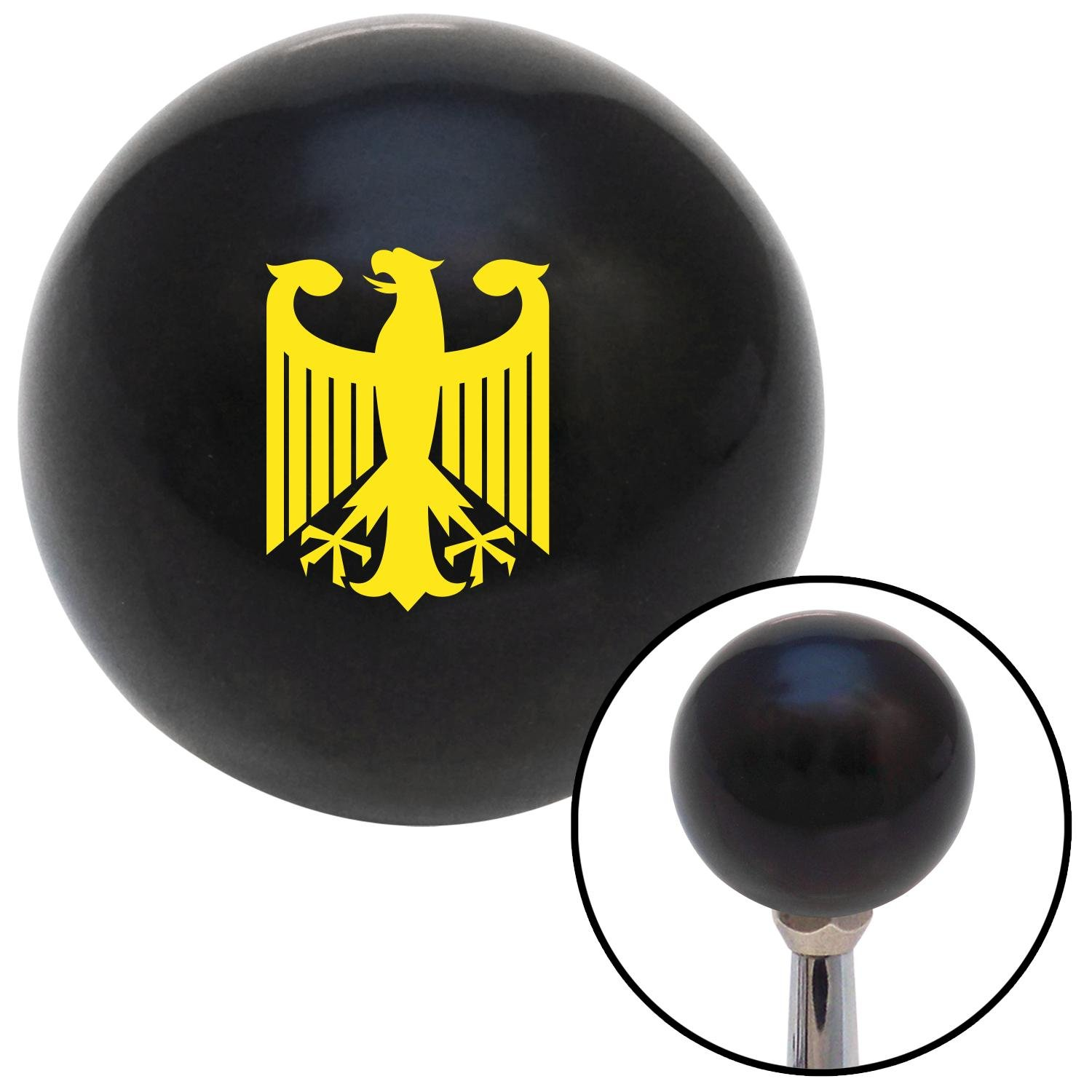 Yellow Eagle Coat of Arms American Shifter 105434 Black Shift Knob with M16 x 1.5 Insert