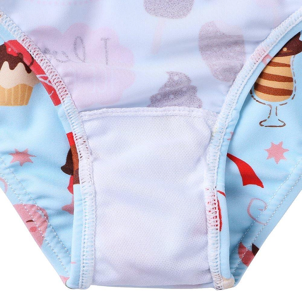 BAOHULU Girls Swimsuit Tankini Two Piece Bathing Suits Top /& Skirt with Built in Bikini Brief