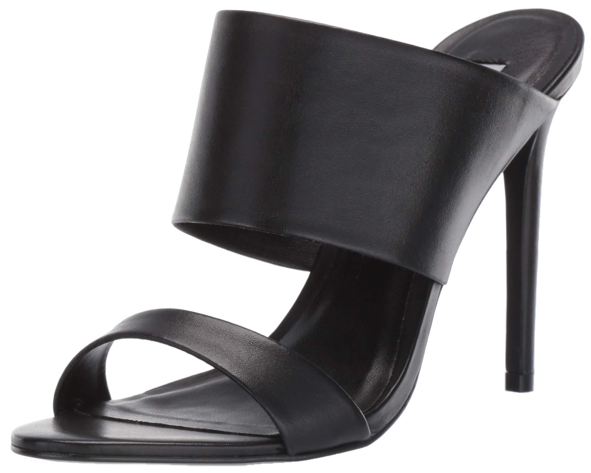 Mallory Black Women's M Sandal 7 Steve Heeled 5 Madden Us Leather OXikuPZ
