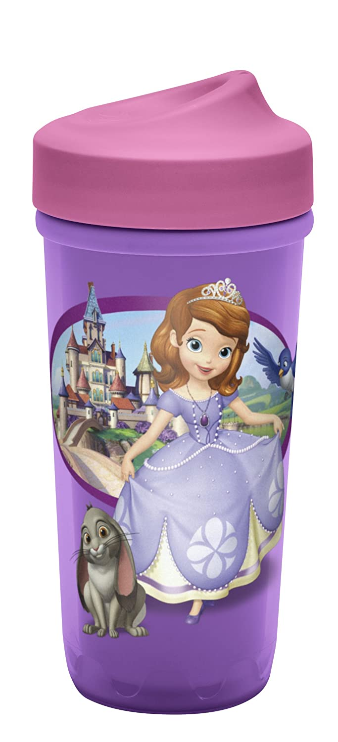 Zak Designs Toddlerific Perfect Flo Toddler Cup with Sofia The First, No-Spill STFJ-M010