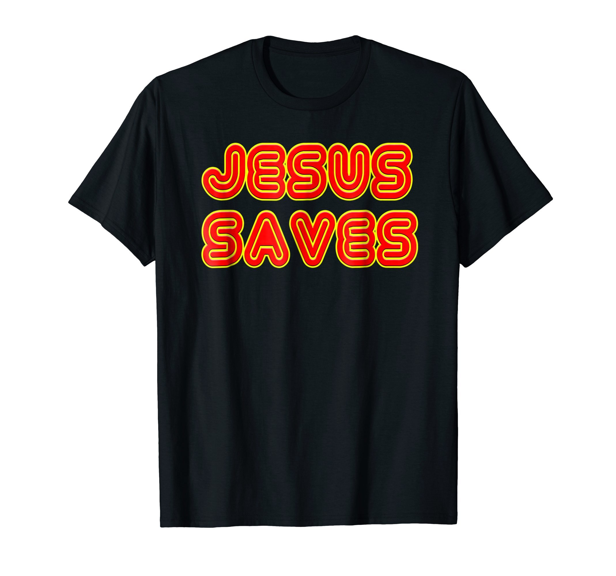Jesus Saves Retro Neon Sign, Faith Hope & Love Gift T-Shirt