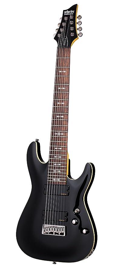 Schecter Omen-8 Guitarra eléctrica de ocho cuerdas, color negro