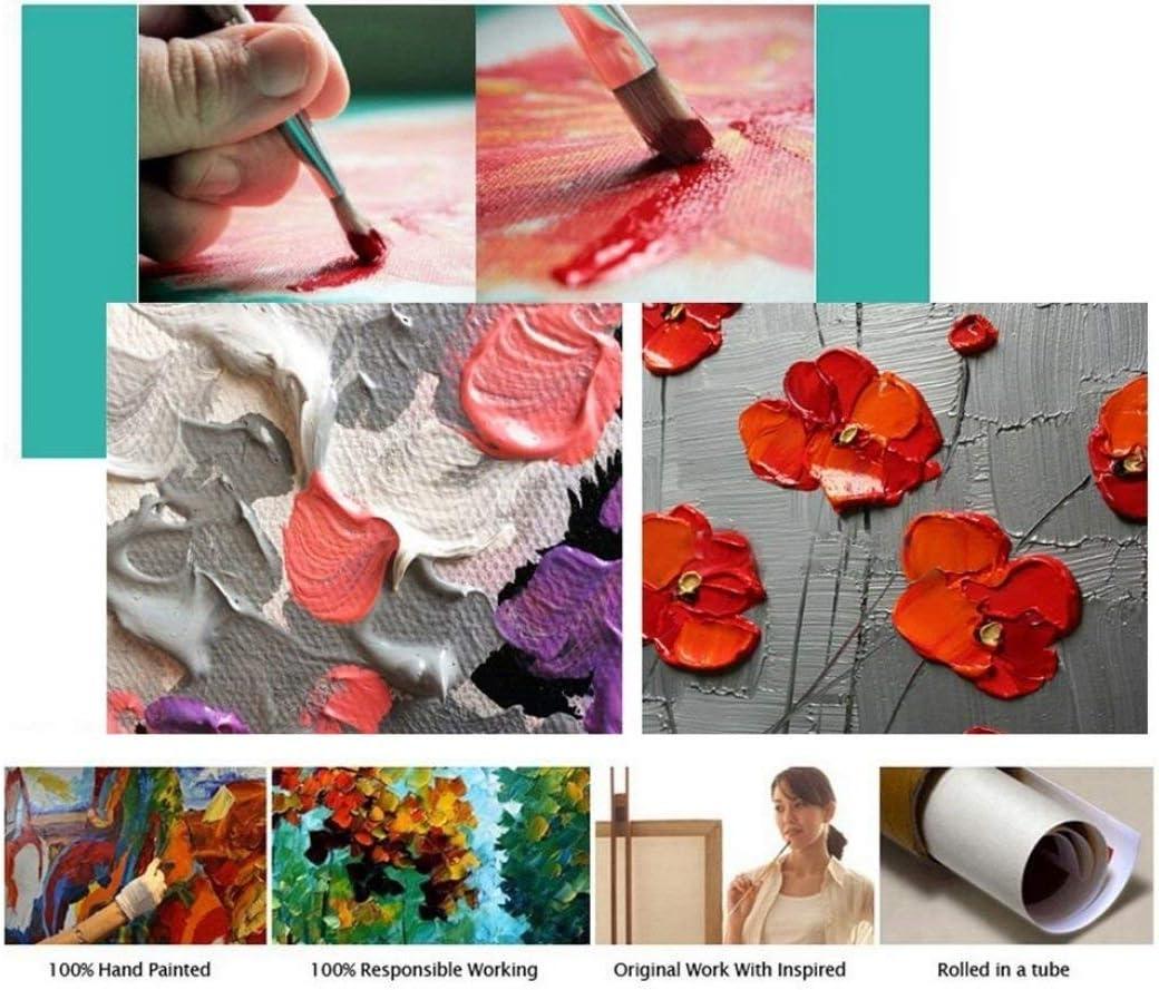 Handgemaltes Acryl /öL Gem/äLde Bild Blumen Auf Leinwand Moderne Kunst Wandbild Wohnzimmer Wand Dekoration 60/×120cm,canvas