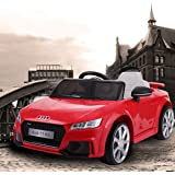 JAXPETY Audi TT 12V Electric Kids Ride On Car Licensed MP3 LED Lights RC Remote Control Red