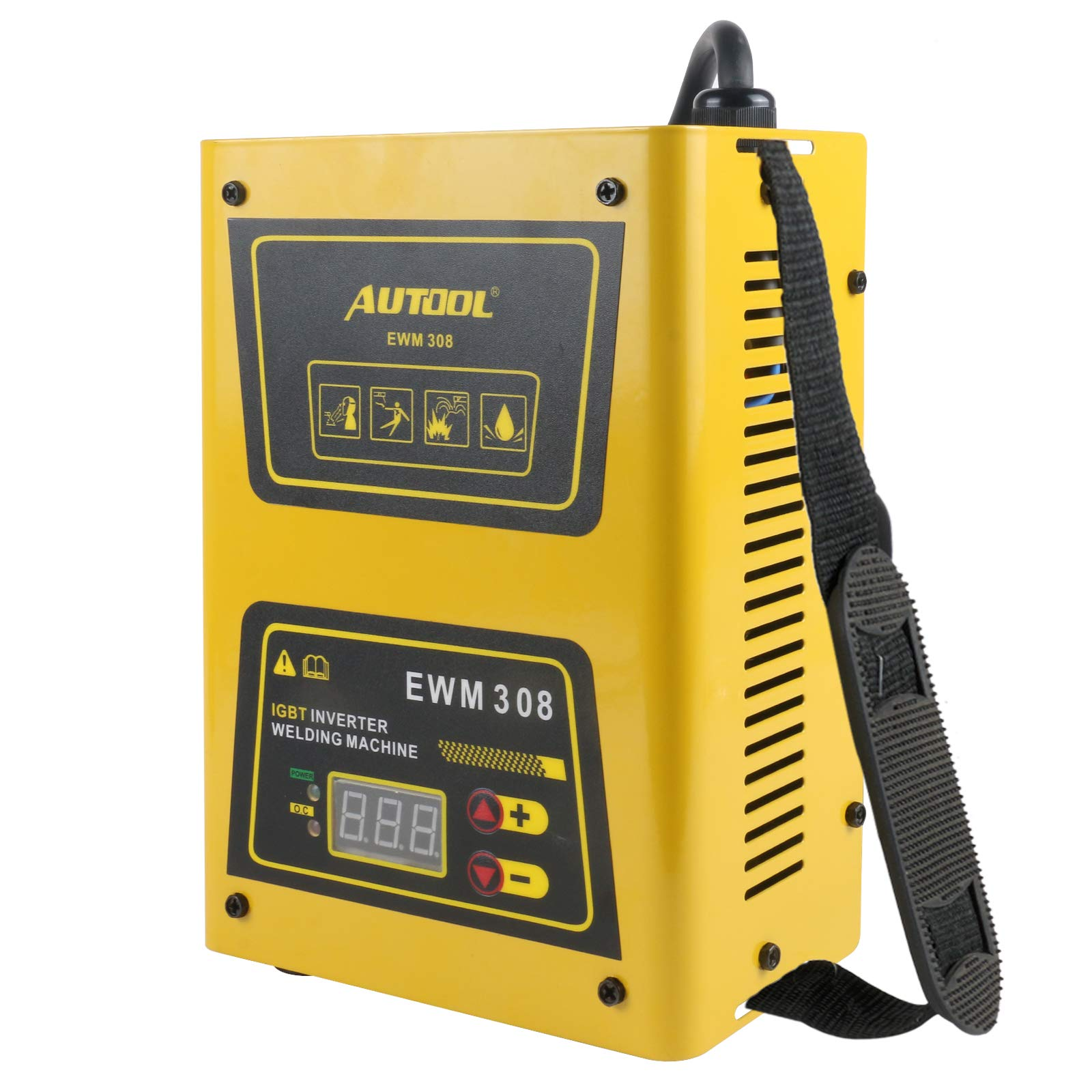 AUTOOL EWM-308 Portable ARC Inverter Welder, 20-140Amp IGBT Welding Machine Kit, AC 220V Mini Electric Stick Welder (EU Socket)