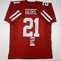 $104 » Autographed/Signed Frank Gore San Francisco Red Football Jersey JSA COA