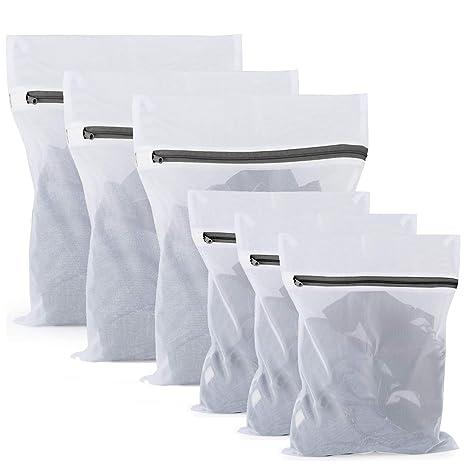 Amazon.com: Pack de 6 bolsas de lavandería de malla – 3 ...