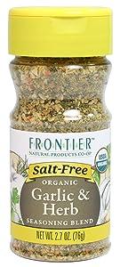 Frontier Salt Free Organic Seasoning, Garlic and Herb, 2.7 Ounce