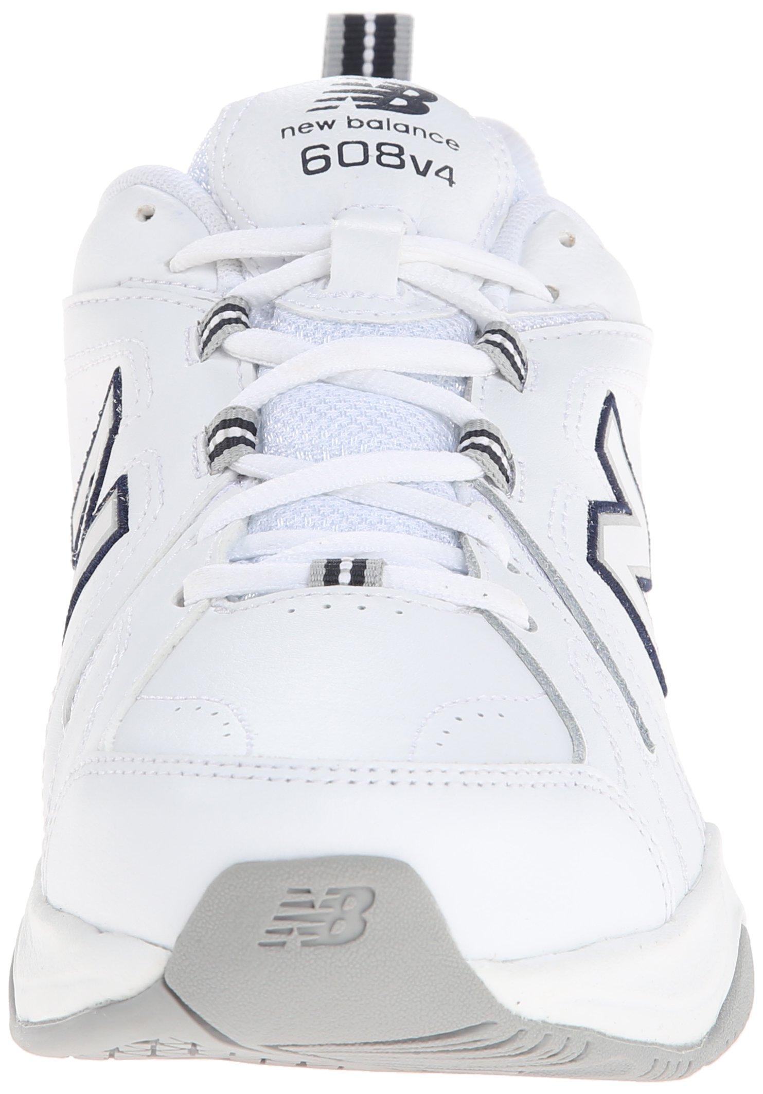 New Balance Women's WX608v4 Training Shoe, White/Navy, 8.5 D US by New Balance (Image #4)