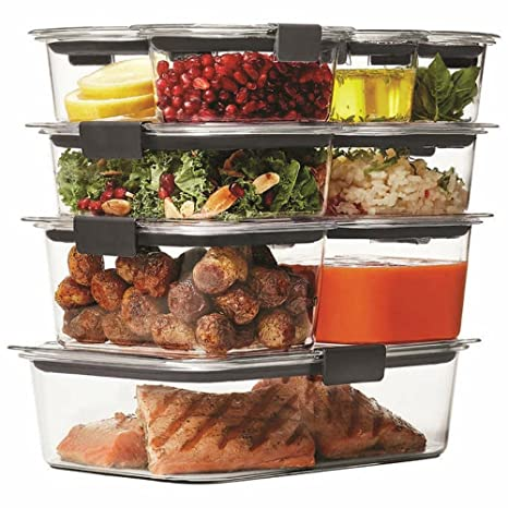 Rubbermaid Brilliance Food Storage Container Set 22 Piece Clear Mesmerizing Amazon Rubbermaid Brilliance Food Storage Container 60Piece