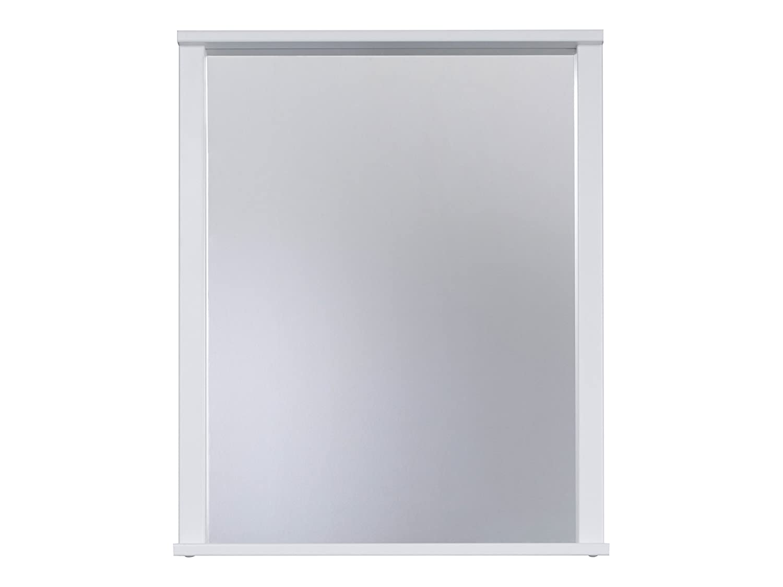 Trendteam Bagno Specchio da Parete Florida, 63 x 78 x 12 cm in Bianco, con ripiano portaoggetti 1681-401-01