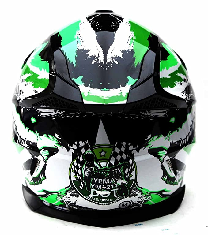 Amazon.com: Motocross Youth Kids Helmet DOT Approved - YEMA YM-211 Motorbike Moped Motorcycle Off Road Full Face Crash Downhill DH Four Wheeler Helmet for ...