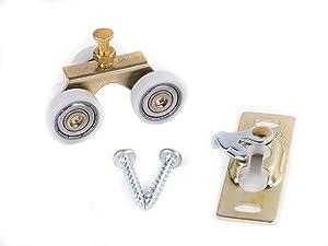 Johnson Hardware Sliding Door/Pocket Door Hanger Ball Bearing 1125-1 Inch Wheel, 200 lb Capacity