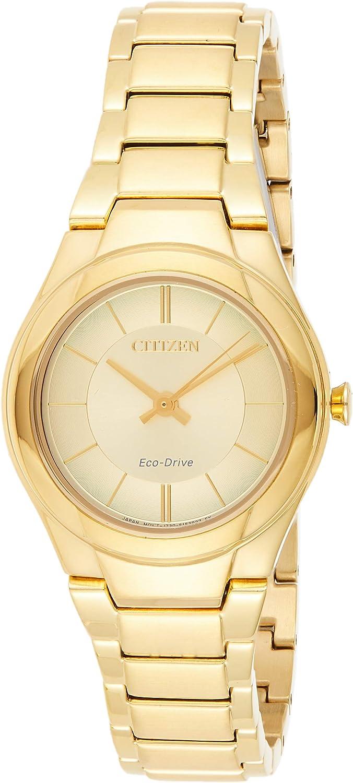Citizen Reloj de Mujer Eco-Drive Correa y Caja de Acero Dorado FE2092-57P