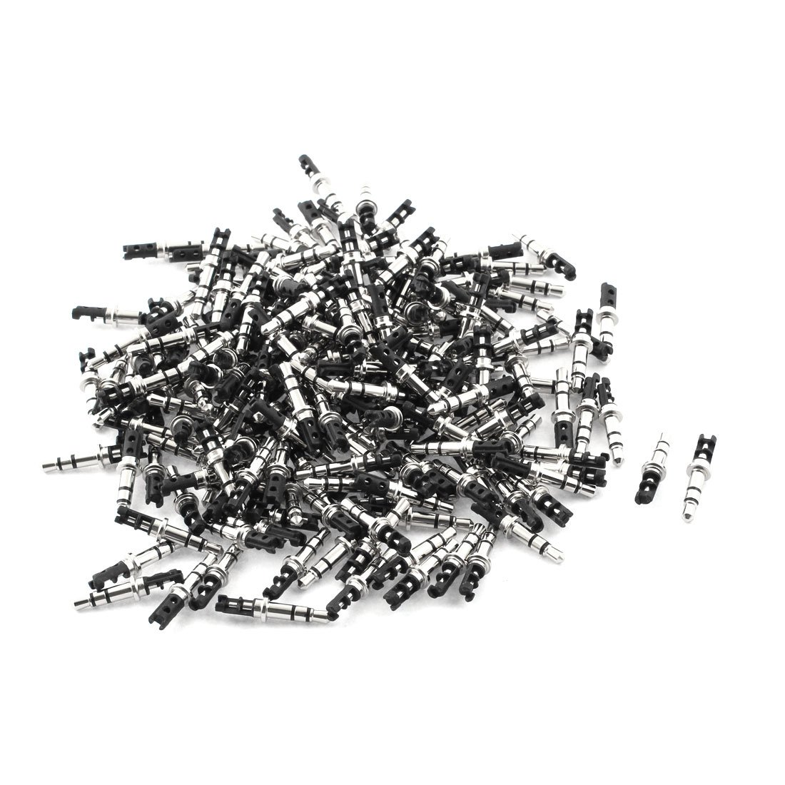 Uxcell 35mm Stereo Male Repair Audio Headphone Jack Solder Wiring Connector Black 200pcs A16012800ux1879
