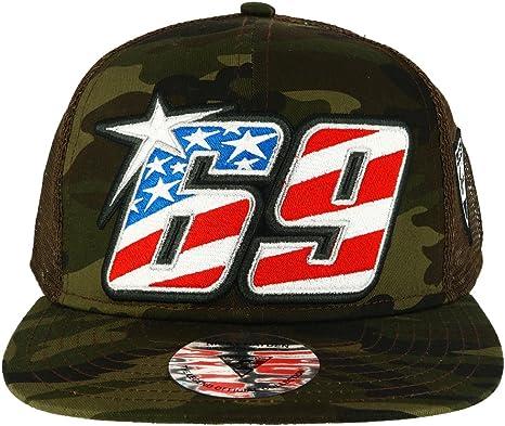 Nicky Hayden 69 Moto GP Camouflage Logo Flat Peak Gorra Oficial ...