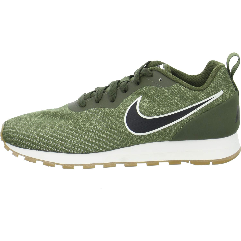 Nike MD Runner 2 Eng Mesh, Zapatillas de Deporte para Hombre 45 EU|Multicolor (Cargo Khaki/Black/Neutral Olive 302)