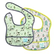 Bumkins Starter Bib, Baby Bib Infant, Waterproof, Washable, Stain and Odor Resistant, 2 Piece Pack, Llama/Cactus, 3-9 Months