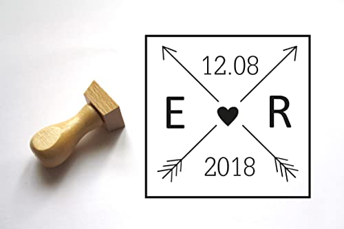 Seed Favor Stamp Custom Wedding Stationery Stamp Save the Date Stamp Wedding Favor Stamp Item 1230 Roman Letter Monogram Rubber Stamp