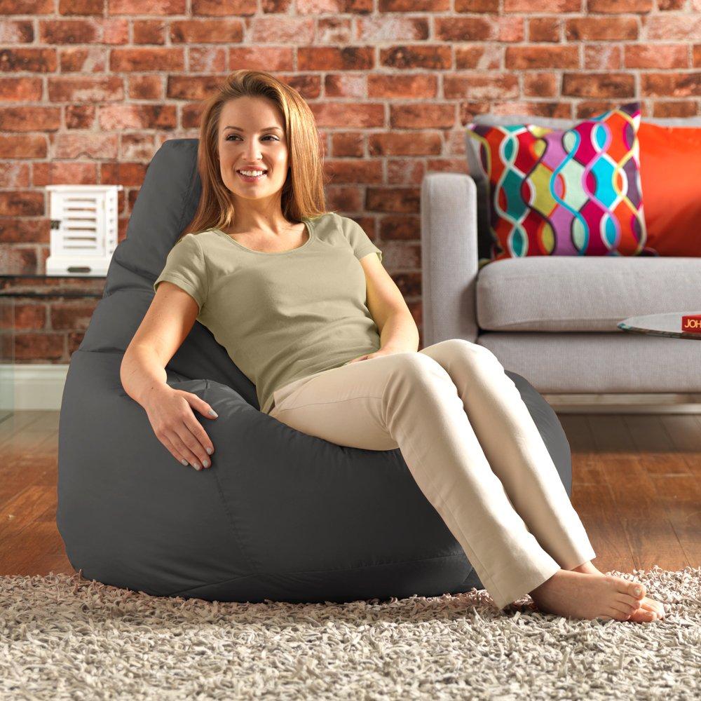 Designer Recliner Gaming Bean Bag SLATE GREY   Indoor U0026 Outdoor Beanbag  Chair (Water Resistant) By Bean Bag Bazaar®: Amazon.co.uk: Kitchen U0026 Home