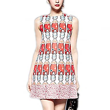 Venetia Morton Fashion Designer Runway Summer Dress Casual Womens Sleeveless Jacquard Beading Print Tank Vest Dress