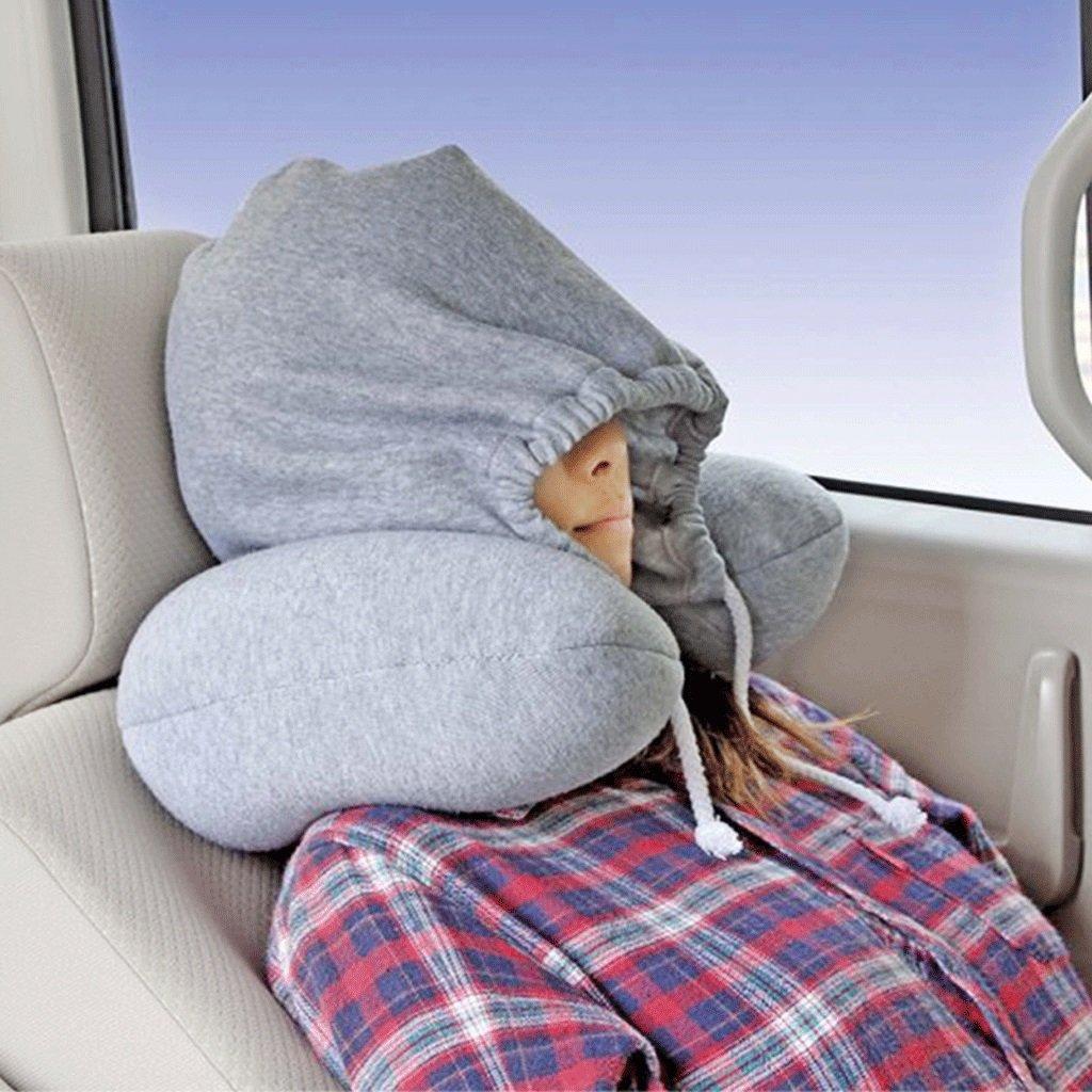 Tipo U Almohada Relleno PP Algodón Creativo con Capucha en Forma de U Almohada Protección para el Cuello Almohada Almohada de Viaje de avión Almohadas de ...