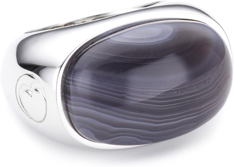 Esprit ESRG91484A170 - Soloist Agate - Anillo de mujer de plata de ley (talla: 17)