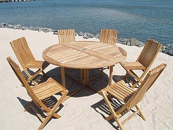 Fabulous Amazon Com Windsors Premium Grade A Teak Barcelona 59 Machost Co Dining Chair Design Ideas Machostcouk