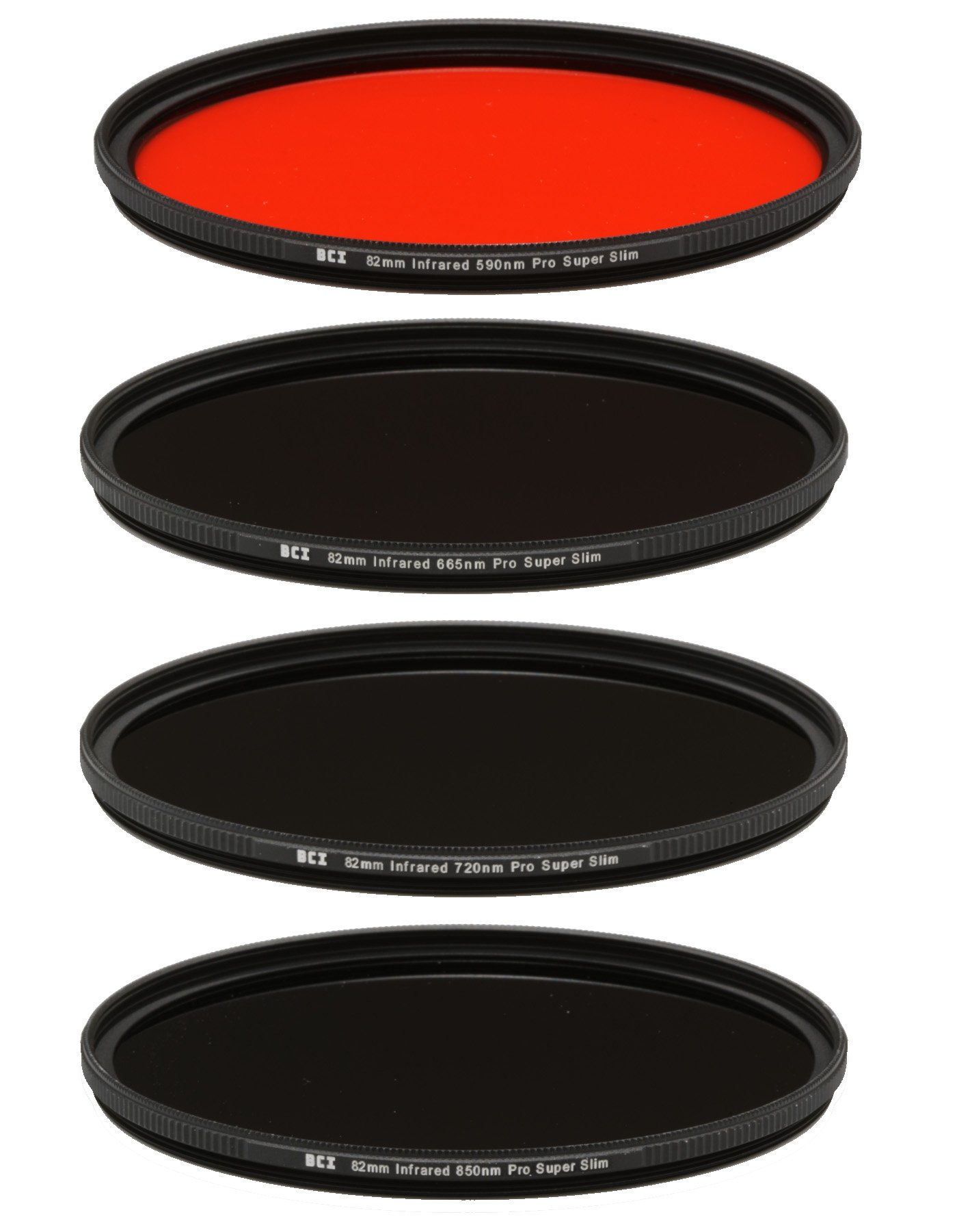 Bear Claw Industries 82mm Infrared Filter Set (590nm+665nm+720nm+850nm)
