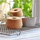 CHEFMADE Mini Angel Food Pan Set, 4PCS 4-Inch