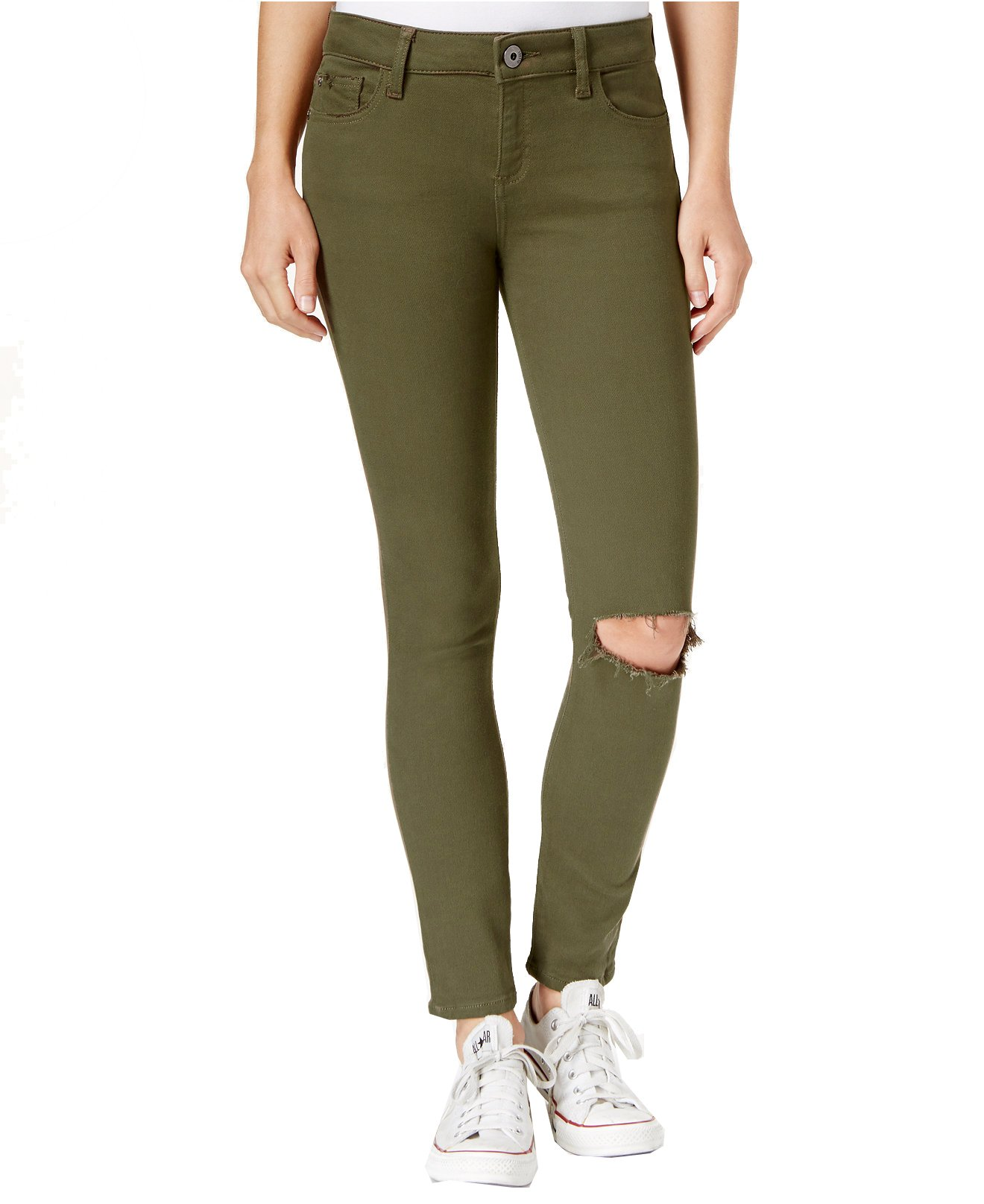 DL1961 Women's Margaux Instasculpt Ripped Ankle Skinny Jeans (24, Basin)