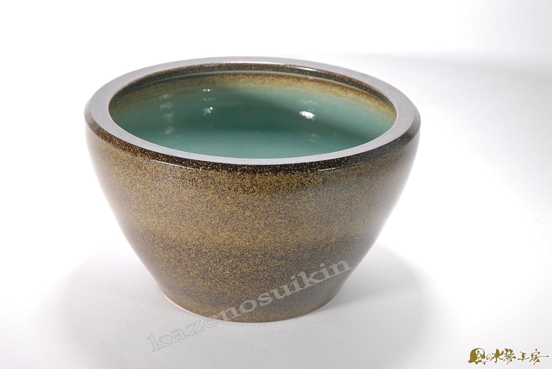 金ソバSA-6水鉢15号信楽焼陶器置物 めだか鉢 水鉢 B0057EGK2G