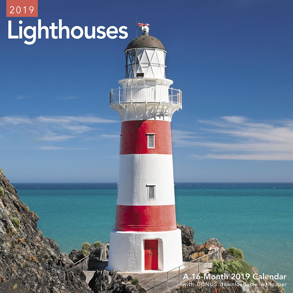 Lighthouses Wall Calendar (2019) Calendar – July 1, 2018 Mead 1635714117 NATURE / General Navigation