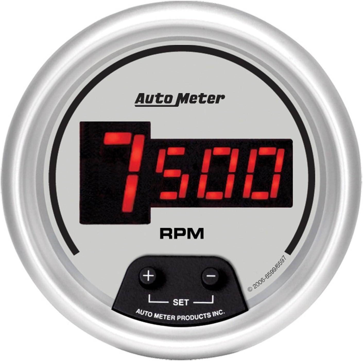 Auto Meter 6597 Ultra-Lite Digital 3-3//8 10000 RPM Digital In-Dash Tachometer