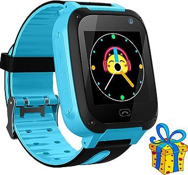 Jslai Niños Smartwatch Relojes,LBS Tracker Inteligente Relojes ...