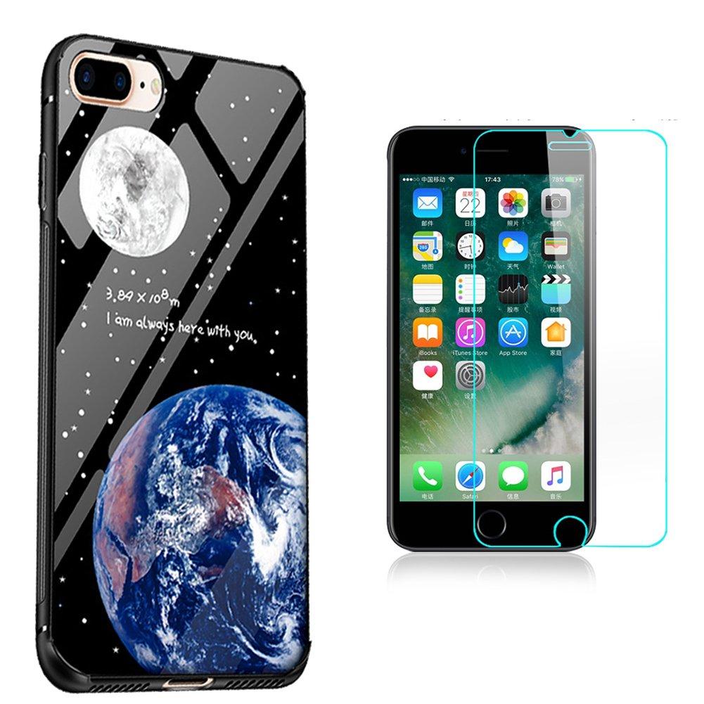 Sunroyal Vidrio Templado Pintado Cubierta Funda iPhone 7 PLUS ...