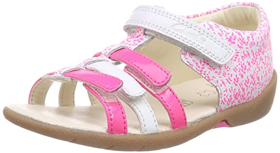 Clarks Kiani Glo FST, Unisex Baby Lauflernschuhe, Pink (Pink Combi Lea), 21 EU (5 Baby UK)